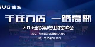 """""""千佳万店 一路高歌"""" 2019佳歌集成灶财富峰会长沙站"""
