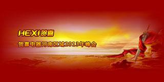 贺喜电器河南区域2013年峰会