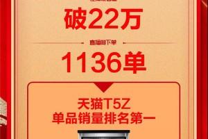 """直击森歌""""云饭局""""T5Z单品获销量第一!观看量超22W!销量1136单!"""